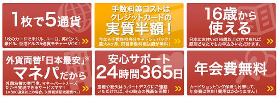 2014年版 外貨両替の手数料を安くする方法:マネパカードに注目!